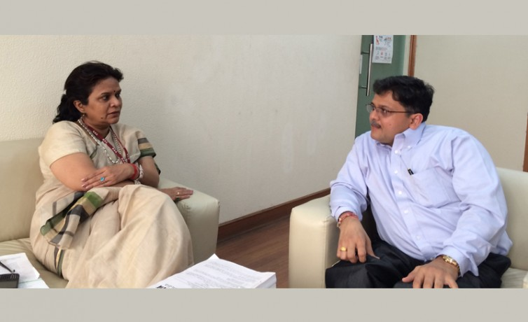 Pranav Desai with Smt Stuti Kacker, Secretary of Department of Disability Affairs, Govt of India