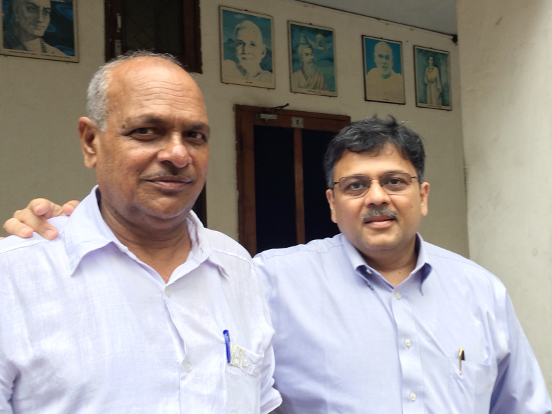 "Pranav Desai with Shri Gupta ji, National General Secretary of ""Saksham"""