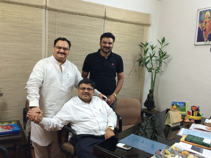 Pranav Desai with Shri Nadda ji, Member of Parliament, India