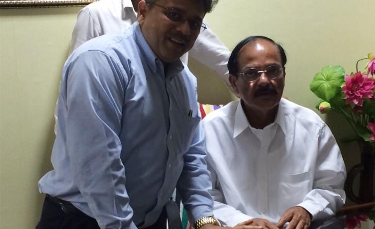 Pranav Desai with Shri Venkaiyah ji, H'ble Cabinet Minister for Urban Development, Govt of India