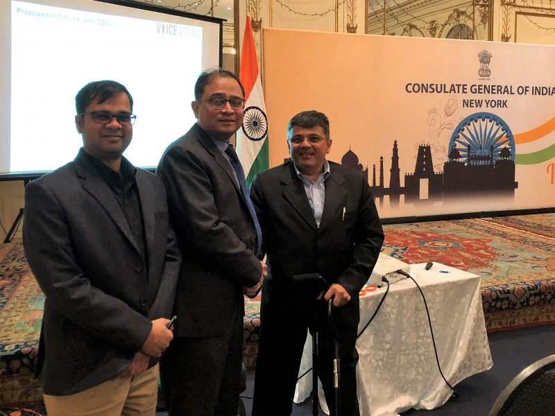 VoSAP mission gains support of Consulate General of India, NY