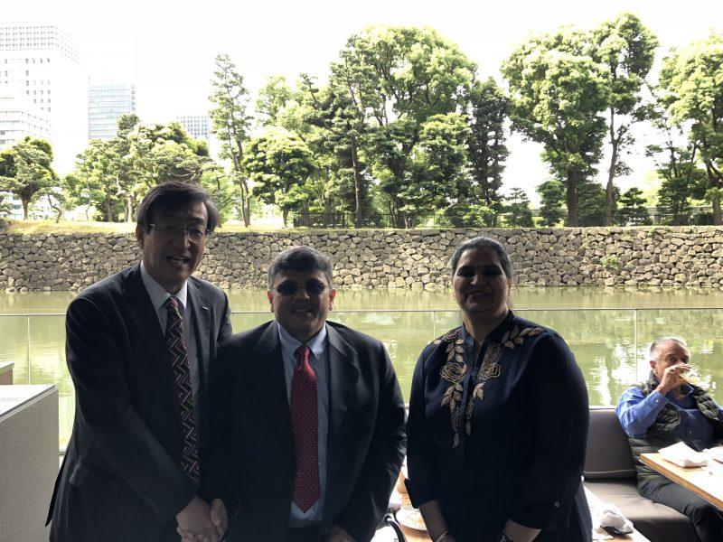 VoSAP founders with Sr EVP & Representative Director of Board at NTT DATA, Japan