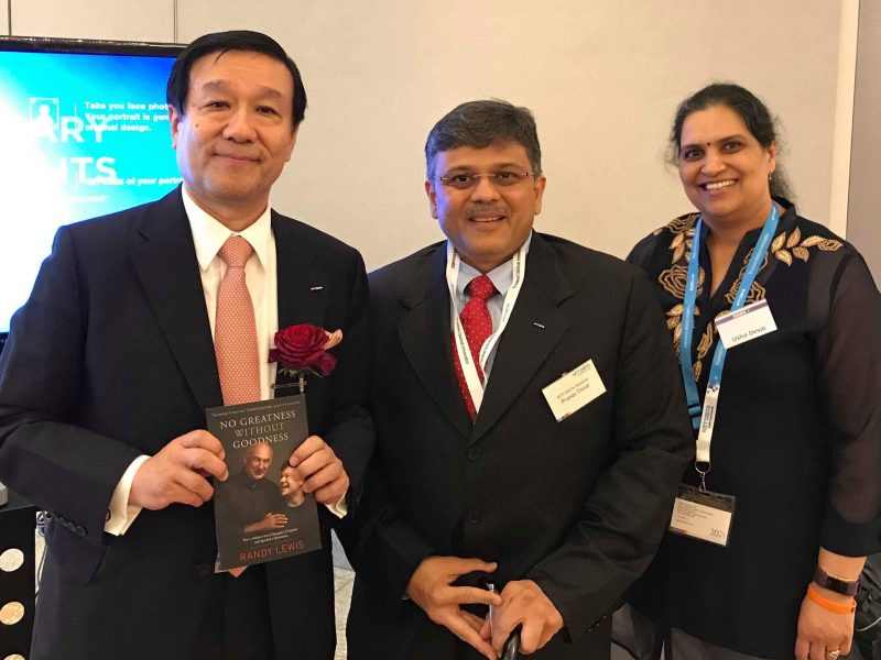 VoSAP  founders with President and CEO of NTT DATA Corp, Japan