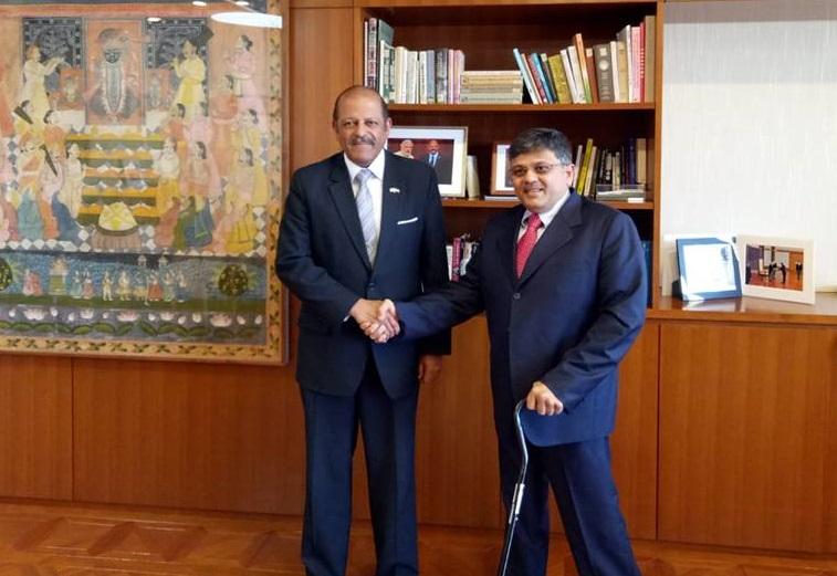 VoSAP founder with Indian Ambassador to Tokyo,  Japan