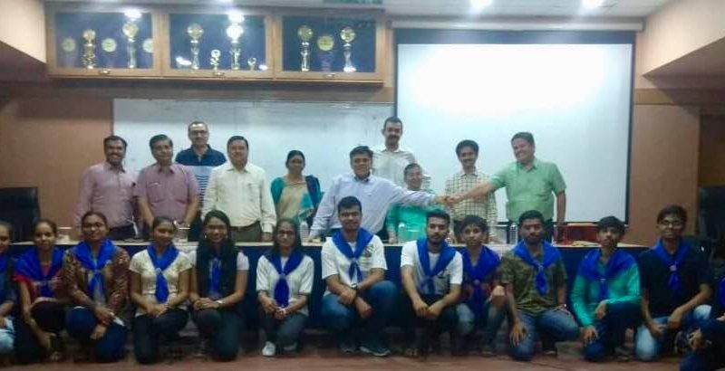 Mass pledges by L.D.Engineering faculty, HOD, students