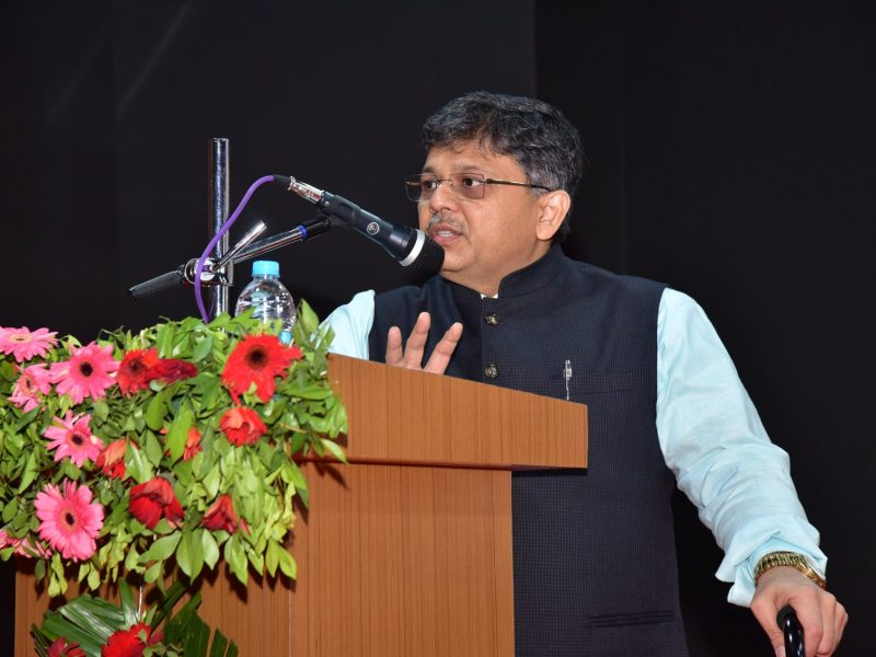 Pranav Desai addressed International Conference at BAOU