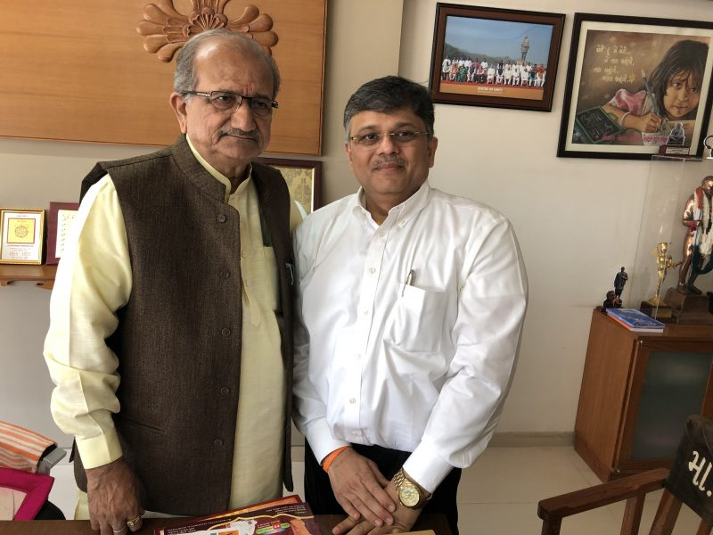 "Meeting with Shri ""Bapu"" – Hon Minister of Education, Gujarat"