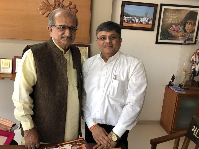 "Meeting with Shri ""Bapu"" – Hon Minister of Education, Gujarat"