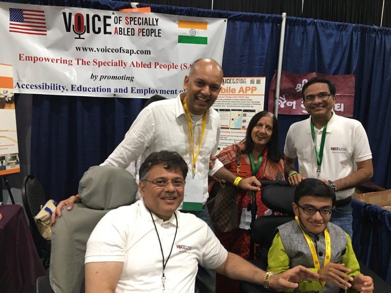 Motivational speaker Shri Nipun Mehta at VOSAP Booth, JAINA