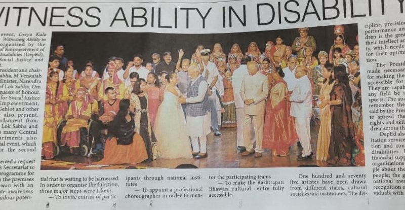 Divya Shakti Kala – performance of Divyang attended by All MPs with H'ble PM, President of India