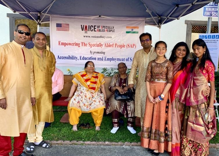 VOSAP volunteers providing wheelchair assistance in Haveli at Silicon Valley