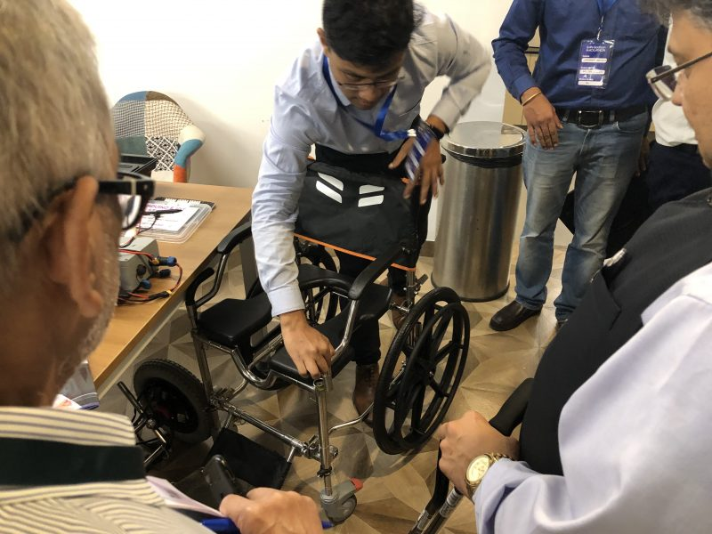 VOSAP founder meeting Innovation teams in Delhi for Accessible Toilet