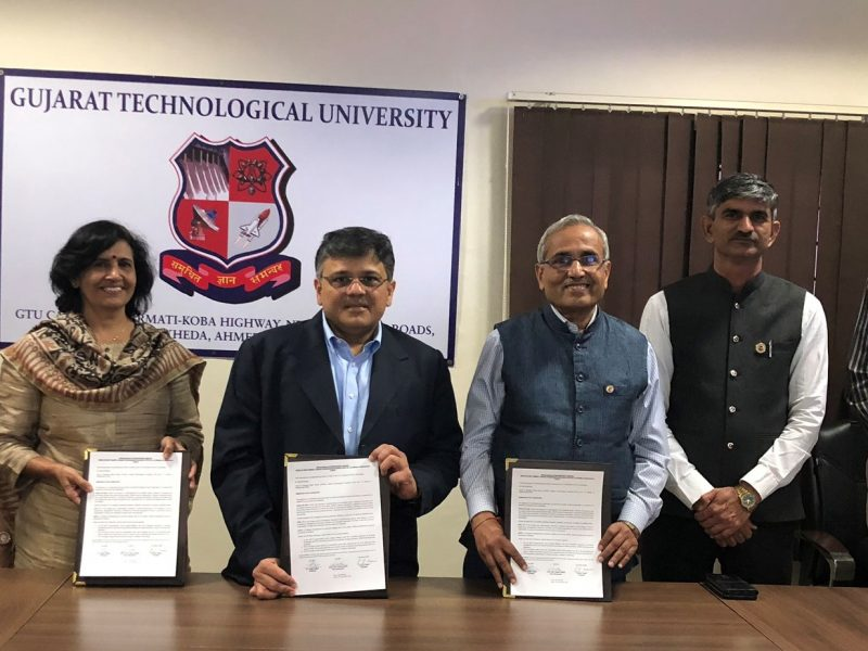 VOSAP signs MoU with Gujarat Tech University and LD Engg College