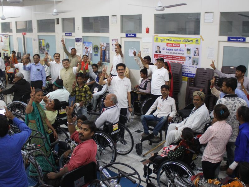 VOSAP provides 95 Assistive Devices to SAP of Rural India (Click for more Photos)