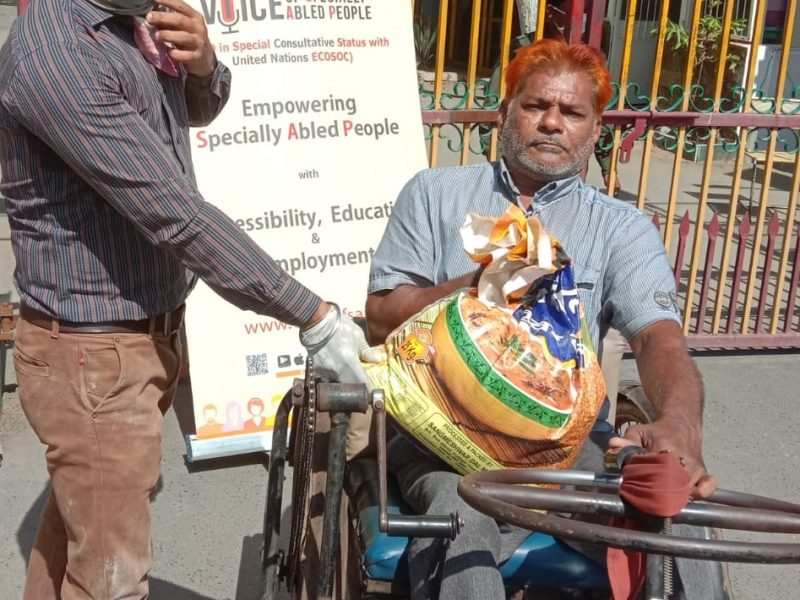 Relief Efforts in COVID-19 pandemic, providing Grocery and Personal Protection kit